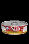 Farmina N&D Quinoa Skin & Coat Quail 80 гр./Фармина Здоровье кожи и шерсти. Полнорационный влажный корм для взрослых кошек. Перепел и кокос.