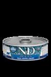 Farmina N&D Ocean  Trout, Salmon & Shrimp Adult 80 гр./Фармина Океан форель,лосось и креветки Полнорационный влажный корм для взрослых кошек.