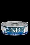 Farmina N&D Ocean Tuna, Cod & Shrimp Adult 80 гр./Фармина Тунец, треска и креветки. Полнорационный влажный корм для взрослых кошек.