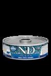Farmina N&D Ocean Tuna & Shrimp Adult 80 гр./Фармина Тунец и креветки. Полнорационный влажный корм для взрослых кошек.