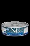 Farmina N&D Ocean Sea Bass, Sardine & Shrimp Adult 80 гр./Фармина Сибас,сардины и креветки Полнорационный влажный корм для взрослых кошек.
