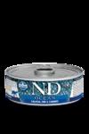 Farmina N&D Ocean Salmon, Cod & Shrimp Adult 80 гр./Фармина Лосось,треска и креветки Полнорационный влажный корм для взрослых кошек