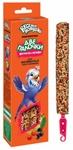 Веселый попугай 70 гр./Две палочки фрукты + ягоды для волнистых попугайчиков