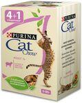 Cat Chow 5*85 гр./Кет Чау паучи для взрослых  Ягненок в желе
