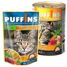 Puffins 400 гр./Пуффинс консервы для кошек Мясное ассорти в нежном желе