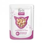 Brit Care 80гр./Брит Каре Суперпремиальный влажный корм для кошек Морской лещ