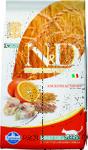 Farmina N&D Low Grain Cat Codfish & Orange 1,5 кг./Фармина сухой корм для кошек  Треска с апельсином