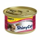 GIMPET Shiny Cat 70 гр./Джимпет Шани Кэт консервы для кошек Цыпленок с крабами