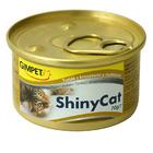 GIMPET Shiny Cat 70 гр./Джимпет Шани Кэт консервы для кошек  Тунец и креветки