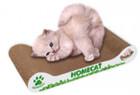 HOMECAT/ MINI Мятная волна 41х12х10 см когтеточка для котят гофрокартон