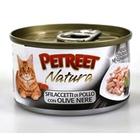 Petreet//Петрит консервы для кошек куриная грудка с оливками 70 г