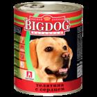Зоогурман BIG DOG 850 гр./Консервы Биг Дог для собак телятина с сердцем