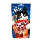 Felix Party Mix 60 гр./Феликс Лакомство для кошек Гриль-микс, со вкусом говядины, курицы и лосося