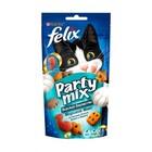Felix Party Mix 60 гр./Феликс Лакомство для кошек Морской микс, со вкусом лосося, трески и форели