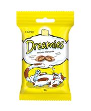 Dreamies 30 гр./Дримисиз лакомые подушечки для кошек с сыром