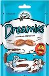 Dreamies 60 гр./Дримисиз лакомые подушечки для кошек с лососем