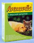 Античес с морской капустой//противоаллергическое, противовоспалительное средство для кошек и собак 60 г