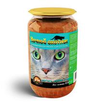 Ночной охотник//консервы для кошек Лосось, судак и тунец 650 г (стекло)