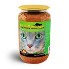 Ночной охотник//консервы для кошек Мясное ассорти 650 г (стекло)