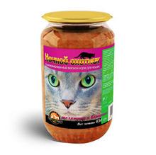 Ночной охотник//консервы для кошек Телятина и баранина 650 г (стекло)