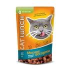 Cat Lunch  85 гр./Кэт Ланч Консервированный корм для кошек Кусочки в соусе Мясное ассорти