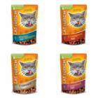 Cat Lunch  85 гр./Кэт Ланч Консервированный корм для кошек Кусочки в соусе МИКС 4 ВКУСА