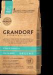GRANDORF Сухой корм для собака всех пород Четыре вида мяса с рисом 1 кг.