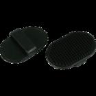 Зооник/Щетка овальная резиновая черная 0713