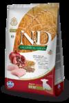 Farmina N&D Low Grain Chicken & Pomegranate Puppy Mini 800 гр./Фармина Спельта, овес, курица, гранат. Полнорационный корм для щенков беременных и кормящих собак.
