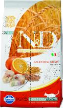 Farmina N&D Low Grain Cat Codfish & Orange 10 кг./Фармина сухой корм для кошек  Треска с апельсином