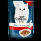 Gourmet Perle 85 гр./Гурме Перл консервы в фольге для кошек Соус де Люкс Говядина