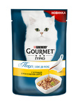 Gourmet Perle 85 гр./Гурме Перл консервы в фольге для кошек Соус де Люкс Курица