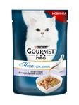 Gourmet Perle 85 гр./Гурме Перл консервы в фольге для кошек Соус де Люкс Телятина