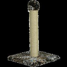 Зооник/Когтеточка на подставке, цв. мех,сизаль  2231С
