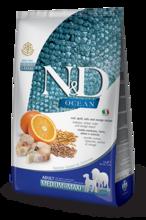Farmina N&D Low Grain Codfish & Orange Adult 12 кг./Фармина сухой корм для собак Спельта, овес, треска, апельсин.