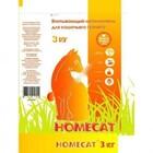 HOMECAT 3 кг./Хоум Кэт Впитывающий наполнитель  для кошек