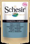 Schesir 100 гр./Шезир консервы для кошек тунец с хеком