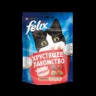 Felix 20 гр./Феликс Хрустящее Лакомство  для взрослых кошек с говядиной
