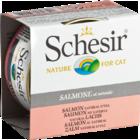 Schesir 85 гр./Шезир консервы для кошек лосось в собственном соку