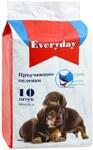 EVERYDAY/Эвридей впитывающие пеленки для животных для приучения к туалета на гелевой основе   60 х 60 см 10 шт