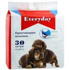 EVERYDAY/Эвридей впитывающие пеленки для животных для приучения к туалета на гелевой основе   60 х 60 см 30 шт