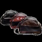Зооник/Сумка-переноска  (средняя) полукруглая из кожзама бордо 2249-3