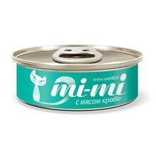 Mi-Mi Crab//Ми-ми консервы для кошек и котят с крабом 80 г