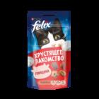 Felix 60 гр./Феликс Хрустящее Лакомство  для взрослых кошек с говядиной