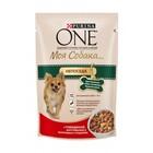 ONE 100 гр./Ван Консервы  Моя собака Непоседа для собак мелких пород, говядина, картофель и морковь