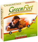 Green Fort//КаплиБио для собак более 25 кг от блох и клещей 3 шт*2,5 мл