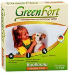 Green Fort//КаплиБио для собак от 2 до 10 кг от блох и клещей 3 шт*1 мл