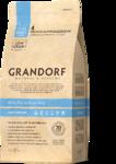 GRANDORF сухой низкозерновой корм для домашних кошек Белая рыба с рисом 400 гр.
