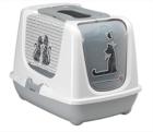 Moderna Cats in Love био-туалет 50x39x37h см с совком, серый/7010721