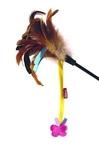 GiGwi 8Дразнилка д/кошек со бабочкой, натуральные некрашеные перья 1*100/75246
